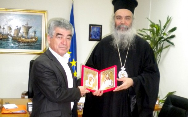 Επίσκεψη του Μητροπολίτου Αδριανουπόλεως Αμφιλόχιου Στεργίου στο Γρ. Σταμούλη