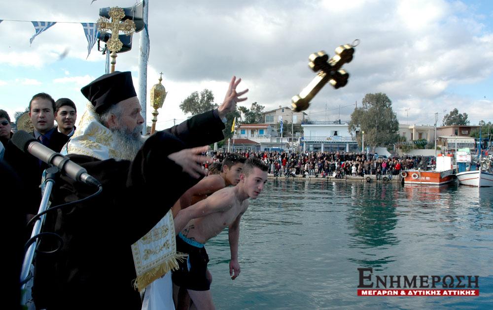 Με παγωνιά ο εορτασμός των Θεοφανείων σε Πάχη και Ν. Πέραμο