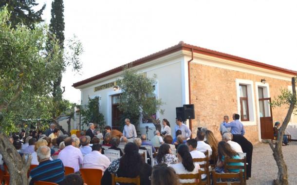 Το ανακαινισμένο Ελαιοτριβείο Πέτκα ξαναλειτουργεί από τον Σύλλογο Περαμίων-Κυζικηνών