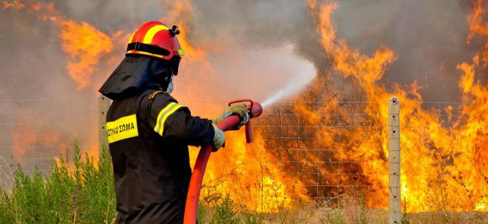 Πυρκαγιά στην Αγία Τριάδα