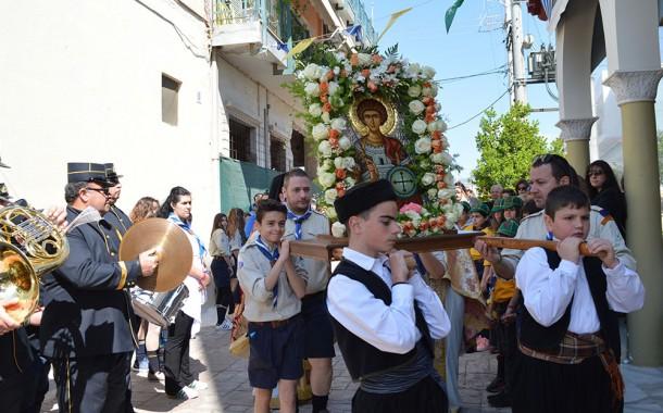 Εορτασμός του Αγίου Γεωργίου Νέας Περάμου