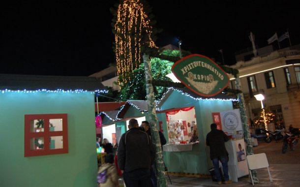 Εκδηλώσεις στο Χριστουγεννιάτικο Χωριό στην κεντρική πλατεία Μεγάρων
