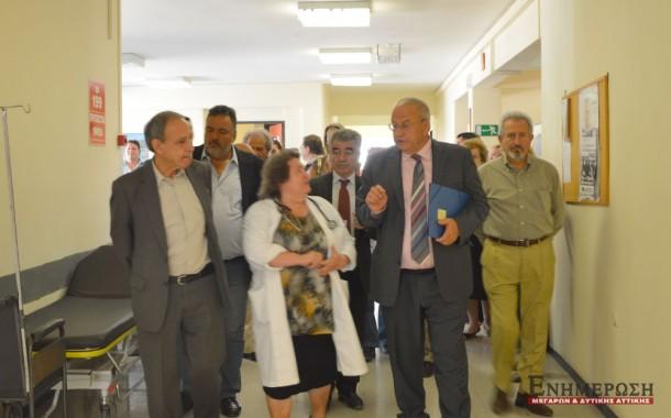 Ο αναπλ. Υπουργός στο Κέντρο Υγείας Μεγάρων