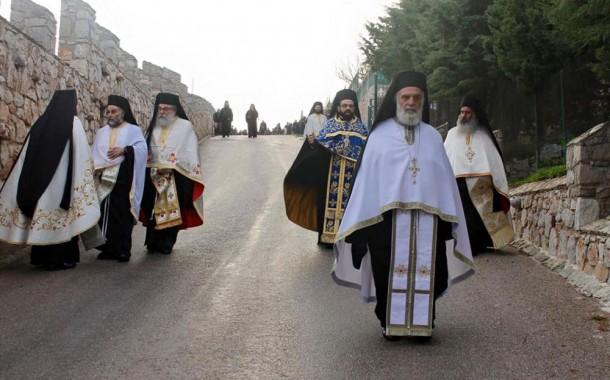 Η εικόνα Παναγίας Παραμυθίας από την Ι.Μ. Βατοπεδίου στη Γοργοεπήκοο