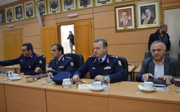 Στελέχη του Αρχηγείου της Αστυνομίας και της Ασφάλειας στο Δήμο Μεγαρέων