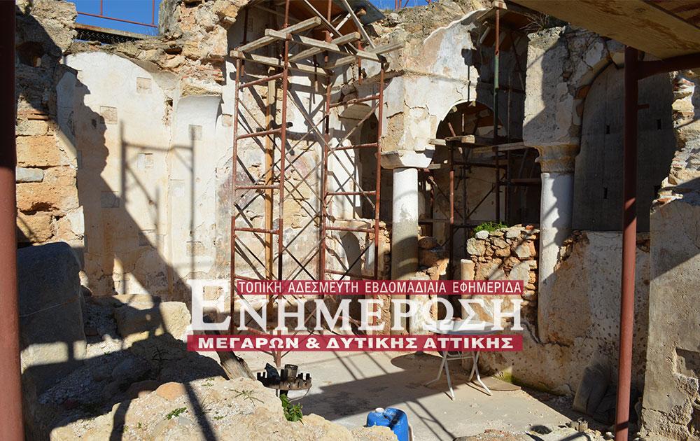 Λαθρανασκαφή στο Εκκλησάκι του Αη-Γιώργη στον Κάμπο των Μεγάρων