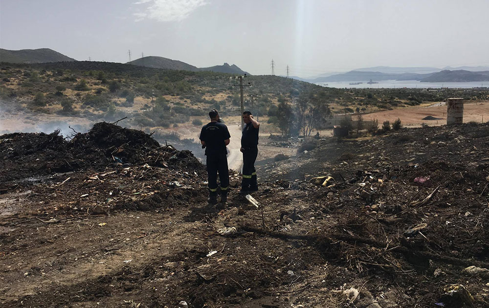 Πυρκαγιά στη χωματερή