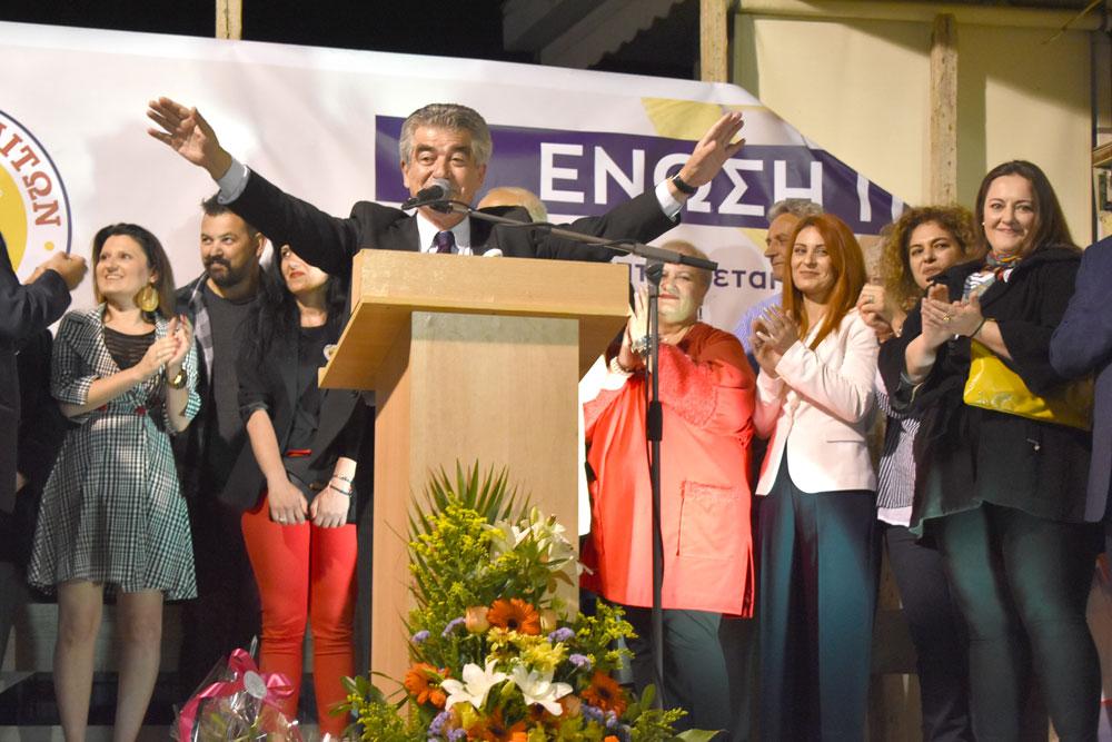 Εγκαίνια στο εκλογικό κέντρο Γρ. Σταμούλη στην Ν. Πέραμο