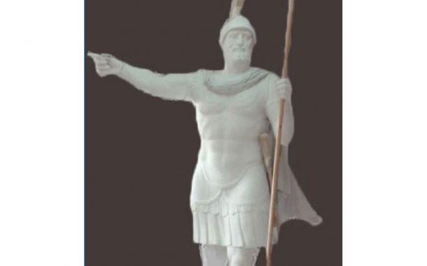Αποκαλυπτήρια του αγάλματος του Βύζα στον εορτασμό 28ης Οκτωβρίου στα Μέγαρα