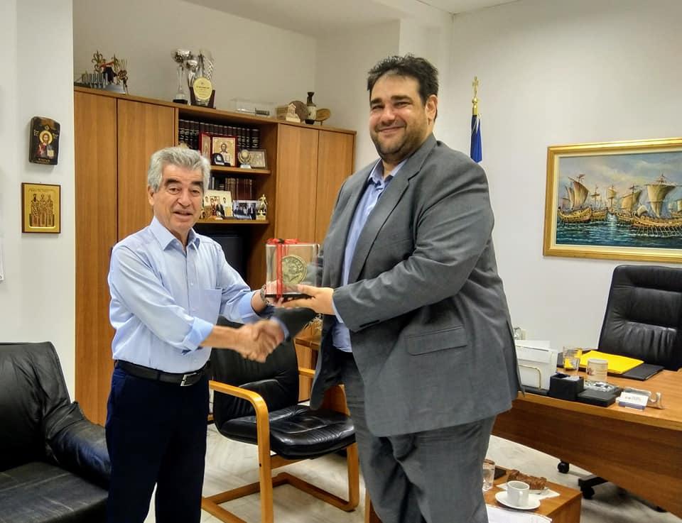 Συνάντηση Υφυπουργού Εσωτερικών Θ. Λιβάνιου με τον Δήμαρχο Μεγαρέων