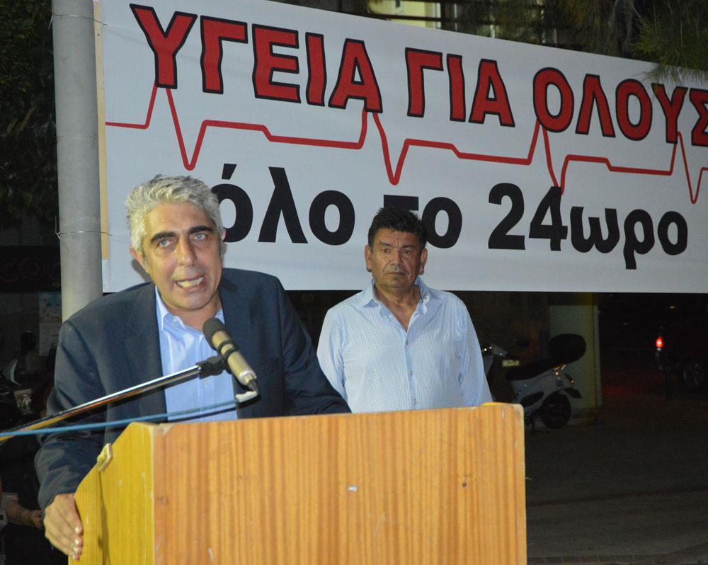 Επίσκεψη Γιώργου Τσίπρα στο Κέντρο Υγείας Μεγάρων