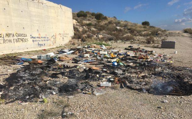 Φωτιά σε σκουπίδια στο λόφο Στίκα