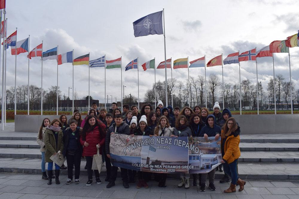 Το Γυμνάσιο Ν. Περάμου στο Ελληνικό Γυμνάσιο-Λύκειο Βρυξελλών & στο Ευρωπαϊκό Κοινοβούλιο