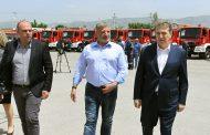 Πυροσβεστικά οχήματα στην ΕΜΑΚ Ασπροπύργου από την Περιφέρεια Αττικής