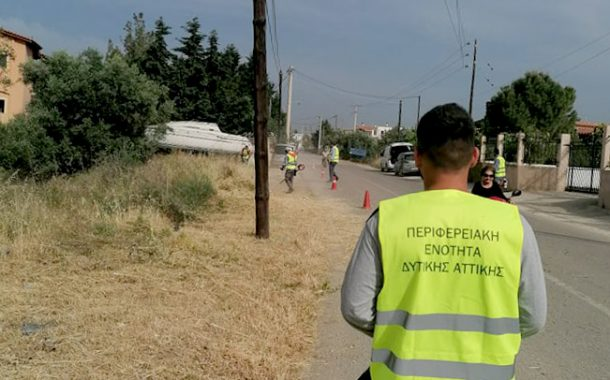 Εργασίες αποψιλώσεων στο δρόμο Μαζίου